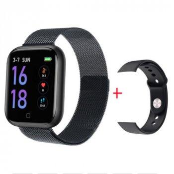 Фитнес браслет T80-S Smart Watch Black