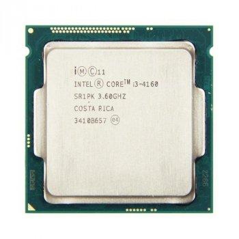 Процесор Intel Core i3-4160 (S1150/2x3.6GHz/5GT/s/3MB/54 Вт/BX80646I34160) Б/У