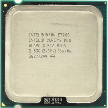 Процесор Intel Core 2 Duo E7200 (S775/2x2.53GHz/3MB/65 Вт/BX80571E7200) Б/У