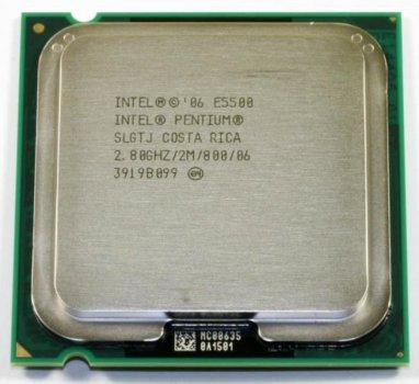 Процесор Intel Pentium Dual Core E5500 (S775/2x2.8GHz/2MB/65 Вт/BX80571E5400) Б/У