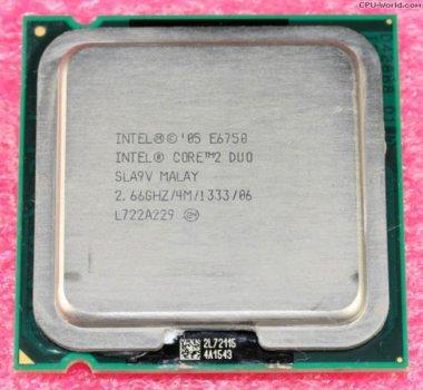 Процессор Intel Core 2 Duo E6750 (S775/2x2.66GHz/4MB/65 Вт/BX80557E6750) Б/У