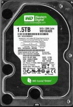"SATA жорсткий диск 1500GB WD Caviar Green 3.5"" 5400 RPM 64MB (WD15EADS) Б/У"