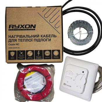 Тонкий двожильний кабель Ryxon HC-20-30 м в комплекті з механічним терморегулятором Castle M5