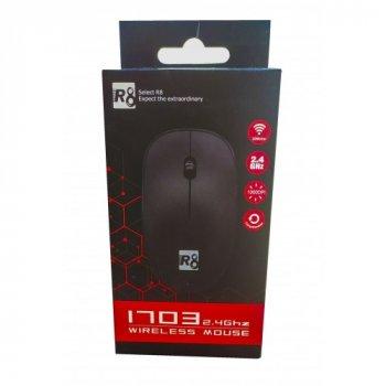 Миша бездротова R8 1703 BLACK оптична чорна Mouse 2.4 GHz 1000 dpi (100587)