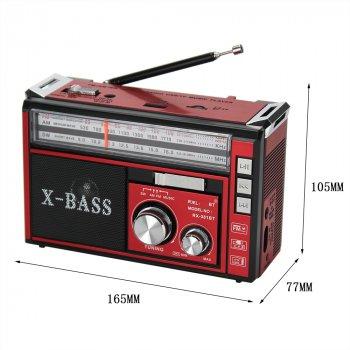 Радиоприемник многофункциональный Golon RX-381 FM/AM/SW с LED фонариком, телескопической антенной, сетевой и аккумуляторный Red (L0937)