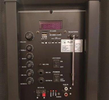 Профессиональная аккумуляторная акустическая система ZPX ZX-7778 со светомузыкой и беспроводным микрофоном (par_ZX 7778)