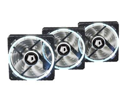 Вентилятор ID-Cooling RB-12025 (3pcs Pack), 120х120х25мм, 4-pin, чорний