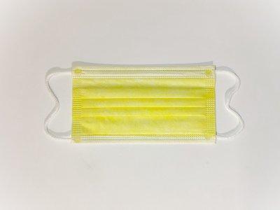 Медицинские Маски желтые 3х слойные с фильтром мельтблаун и зажимом для носа 50ШТ 08Маски