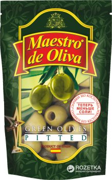 Упаковка оливок зеленых без косточек Maestro de Oliva 170 г х 12 шт (2843602429459)