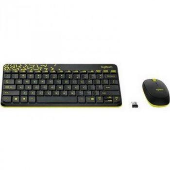 Комплект (клавіатура, миша) бездротовий Logitech MK240 Black USB (920-008213)