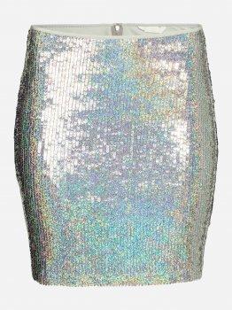 Спідниця H&M 4395934-ACXA Срібляста