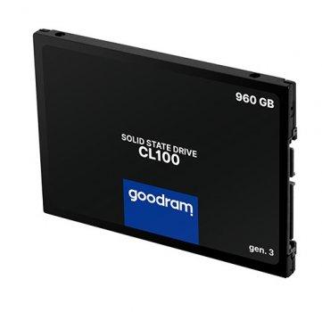"Твердотільний накопичувач SSD Goodram CL100 Gen.3 960GB 2.5"" SATA III 3D NAND TLC (SSDPR-CL100-960-G3)"