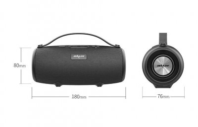 Портативна Bluetooth колонка ZeaLot S34 Black 1800 мАч