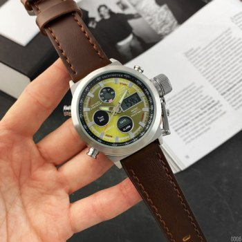 Часы наручные AMST 3003AC Silver-Green Brown Wristband