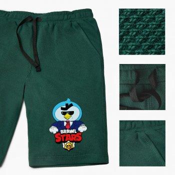 Шорти дитячі Бровл Старс Містер Пі (Brawl Stars Mr. Pi) (9753-1022-DG) Бавовна Lacoste Темно-зелений