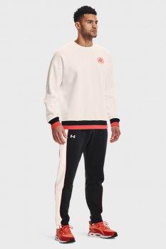 Мужские черные спортивные брюки UA RIVAL FLC ALMA MATER PNT Under Armour 1361635-001