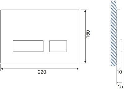 Панель смыва CERSANIT Movi S97-011 хром матовый