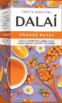 Чай травяной Dalai Orange Berry с облепихой, ромашкой и цедрой апельсина 25 шт х 1.2 г (4810278004008)
