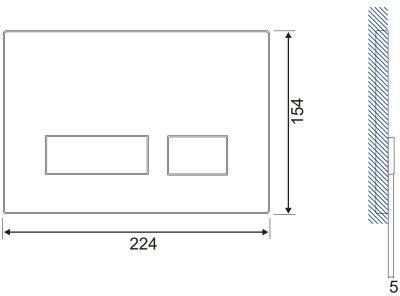 Панель смыва CERSANIT Movi S97-013 черное стекло