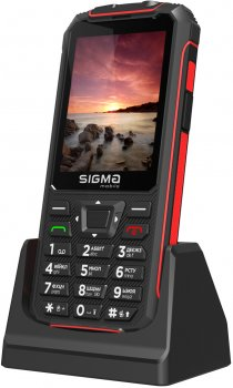Мобильный телефон Sigma mobile Comfort 50 Outdoor Black/Red