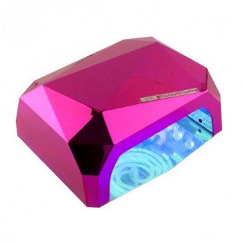 Гибридная лампа для маникюра Diamond CCFL+LED 36W Pink