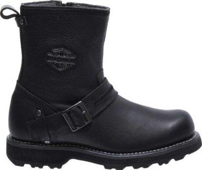 Мужские сапоги Harley-Davidson Richton Motorcycle Boot Black Full Grain Leather (100790)