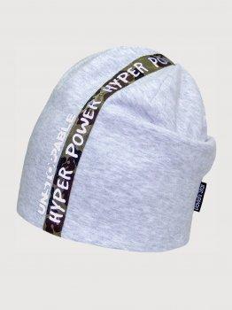 Демисезонная шапка David's Star 2154 54 см Серая (ROZ6400045227)
