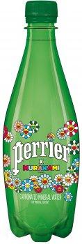 Упаковка минеральной газированной воды Perrier Murakami 0.5 л х 24 бутылки (7613035850354)