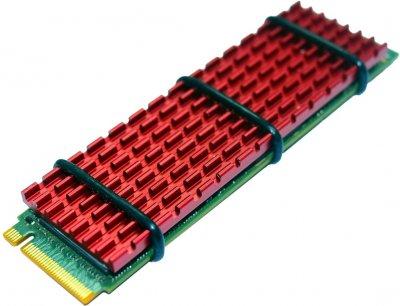 Радиатор для SSD Gelid SubZero M.2 SSD 70x20х3 мм Red (HS-M2-SSD-10-A-4)