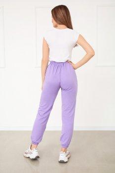 """Спортивні штани з високою талією Fashion Girl """"Matrix"""" ліловий"""