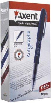 Набор гелевых ручек 12 шт Axent Autographe 0.5 мм Синий (AG1007-02-A)