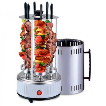 Электрошашлычница для будинку вертикальна 1000W Domotec BBQ MS-7782 (201643)