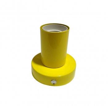 Светильник бра настенно-потолочный на 1-лампу BASE E27 желтый