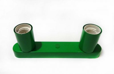 Светильник бра настенно-потолочный на 2-лампы BASE-2 E27 зеленый