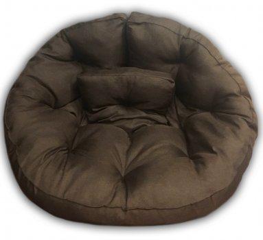 Кресло трансформер матрас с подушкой бескаркасное раскладное лежак Коричневый M (12397704)