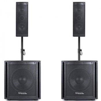 Активний комплект акустичних систем IBIZA CUBE204