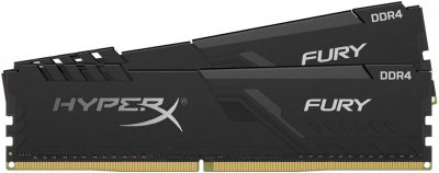 Оперативна пам'ять HyperX DDR4-2666 16384MB PC4-21300 (Kit of 2x8192) Fury Black (HX426C16FB3K2/16)