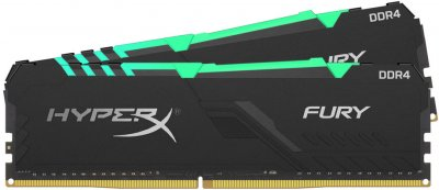 Оперативная память HyperX DDR4-3200 16384MB PC4-25600 (Kit of 2x8192) Fury RGB Black (HX432C16FB3AK2/16)