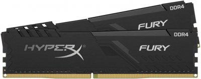 Оперативная память HyperX DDR4-2400 8192MB PC4-19200 (Kit of 2x4096) Fury Black (HX424C15FB3K2/8)
