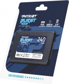 "Накопичувач SSD Patriot Burst Elite 240GB 2.5"" 7mm SATAIII TLC 3D 240GB 2.5"" SATAIII TLC (PBE240GS25SSDR)"