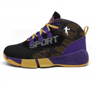 Баскетбольні кросівки Basketball Stori фіолетовий з жовтим 4021-2