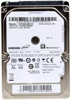 """Жорсткий диск для ноутбука Samsung 500 Gb (2.5"""", 8Mb, 5400 об/хв, 9.5 mm, SATA II, ST500LM012) Б/У"""