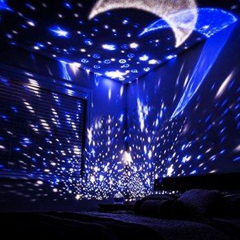 Ночник проектор звездного неба Star Master Dream детский ночной светильник USB синий