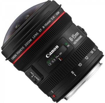 Об'єктив Canon Ef 8-15mm f/4L Fisheye Usm 540 83