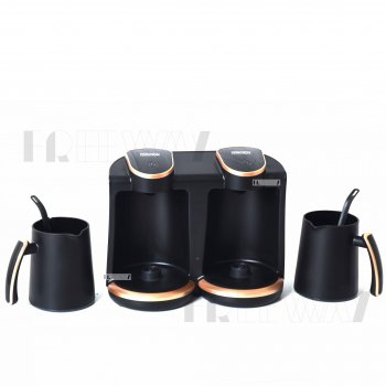 Кофеварка для дома электрическая турка на 8 чашек DSP 500мл 800Вт Черная (KA3049)