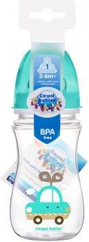 Бутылка с широким отверстием антиколиковая Canpol babies Easystart Цветные зверьки 240 мл Бирюзовая (35/206 Бирюзовый)