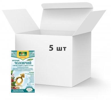 Упаковка Фіточай у пакетиках Доктор Фіто Чоловічий еліксир здоров'я, вроди та сили 20 х 5 шт. (4820167092030)
