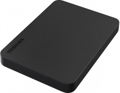 "Жесткий диск Toshiba Canvio Basics + USB-C адаптер 2TB HDTB420EK3ABH / HDTB420EK3AB 2.5"" USB 3.2 Gen1 External Black"
