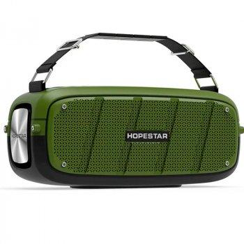 Портативна бездротова Bluetooth колонка Hopestar A20 55Вт Green з вологозахистом IPX6 і функцією зарядки пристроїв (A20G22)