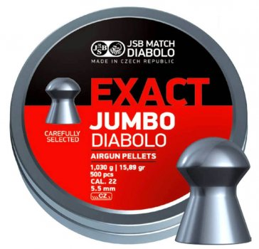 Кулі JSB Diabolo EXACT JUMBO 5,5 mm. 500шт. 1,030 р.